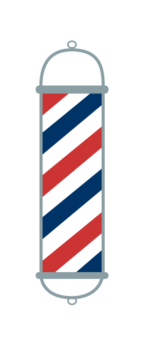 Barber pole clipart vector.