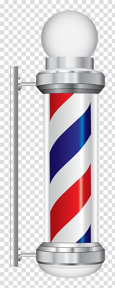 Gray barber\'s pole illustration, Barbershop Razor Shaving.
