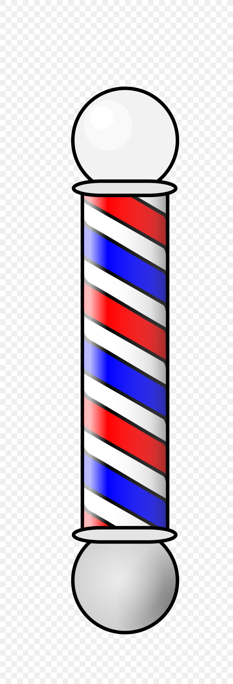 Barber\'s Pole Hair Clipper Hairstyle Clip Art, PNG.