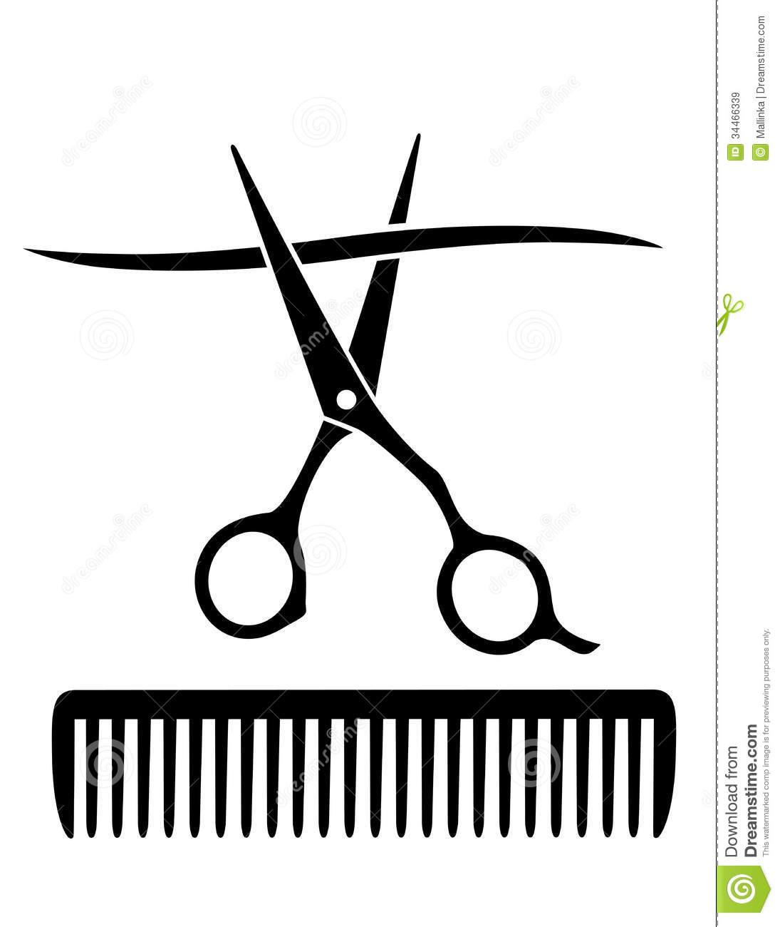 Comb And Scissors Vector at GetDrawings.com.