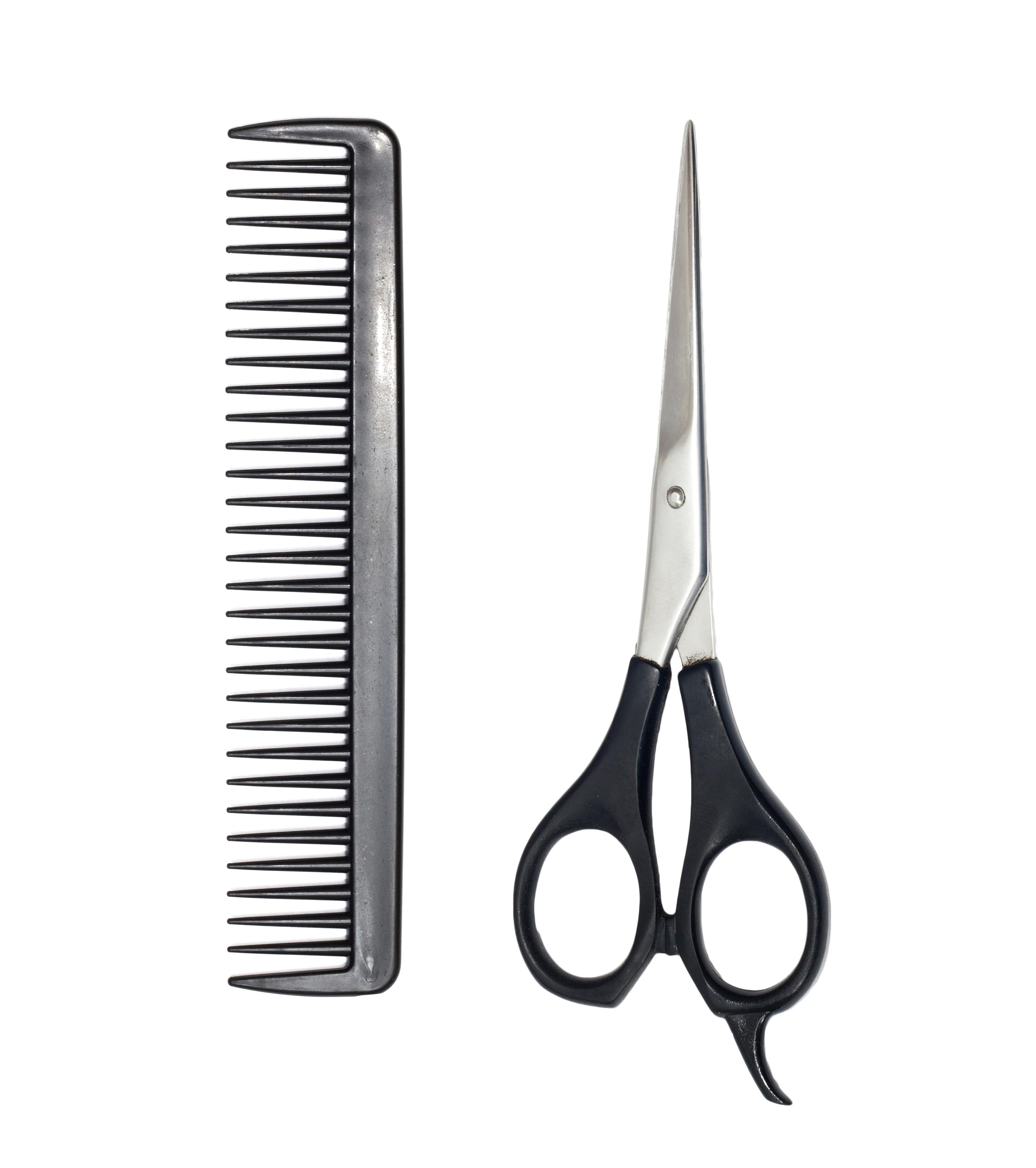 Comb And Scissors Clipart image.