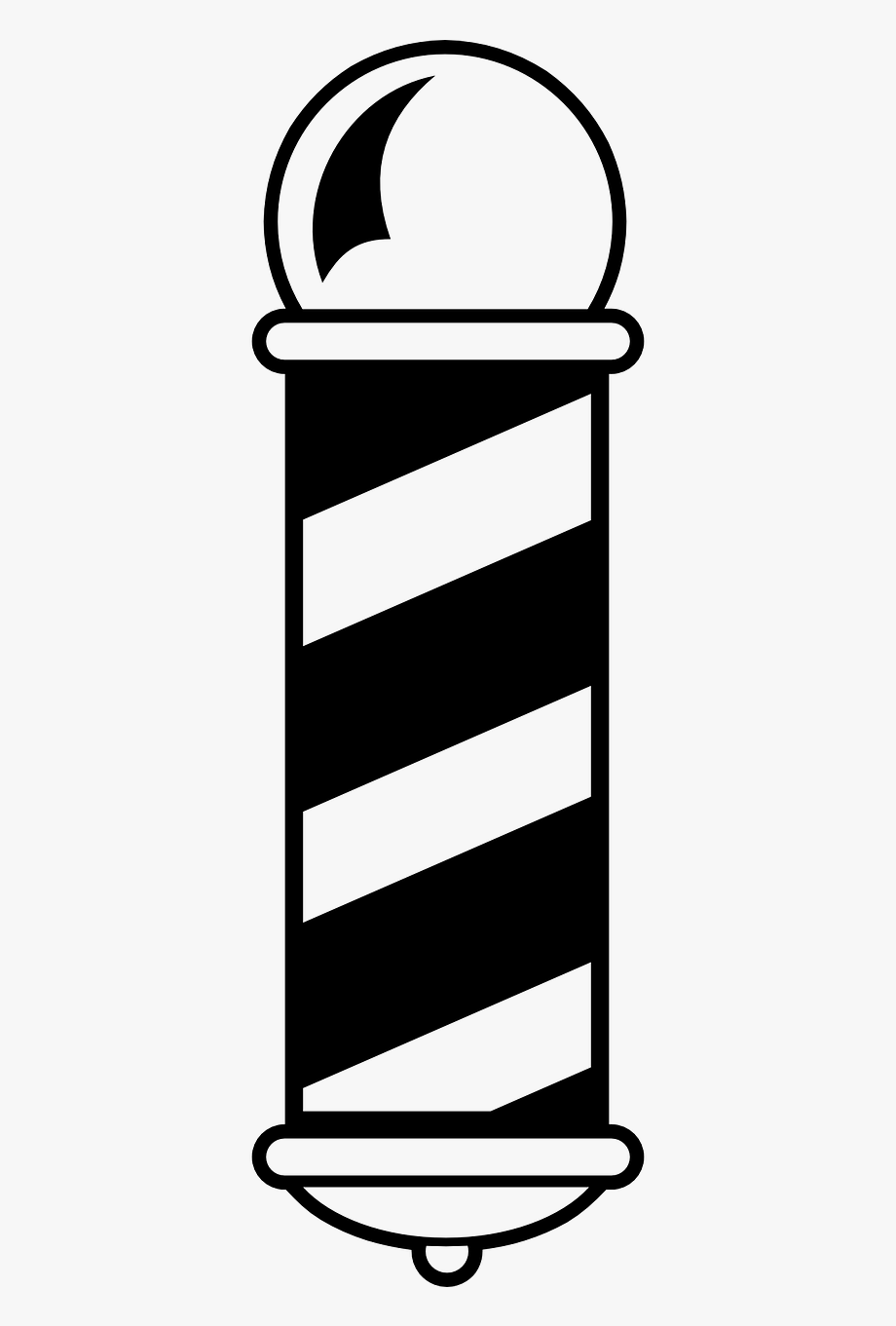 Barber Shop Pole Vector.