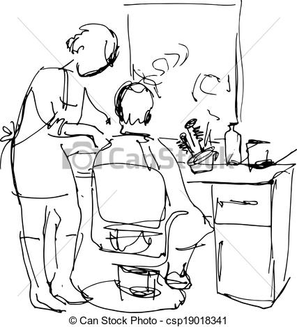 Barber shop clipart black and white 1 » Clipart Station.