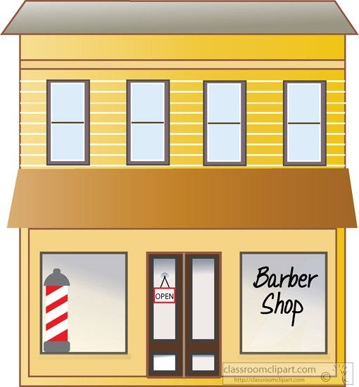 Barber Shop Building Clipart.
