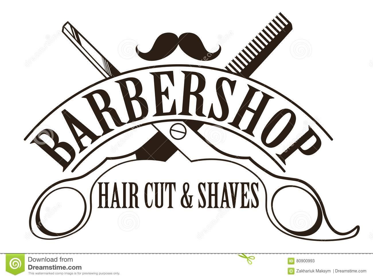 Barbershop logo stock vector. Illustration of business.