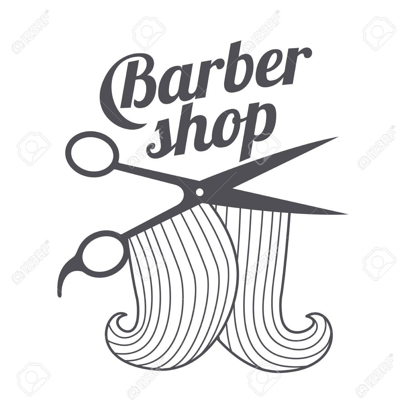 Barber shop logo templates. Hair, beard, razor, scissors, comb.