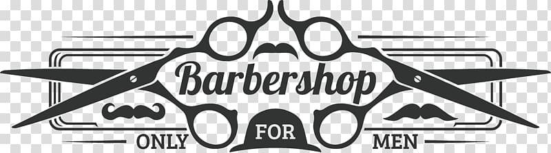 Barbershop illustration, Logo Barbershop, Male barber shop logo.