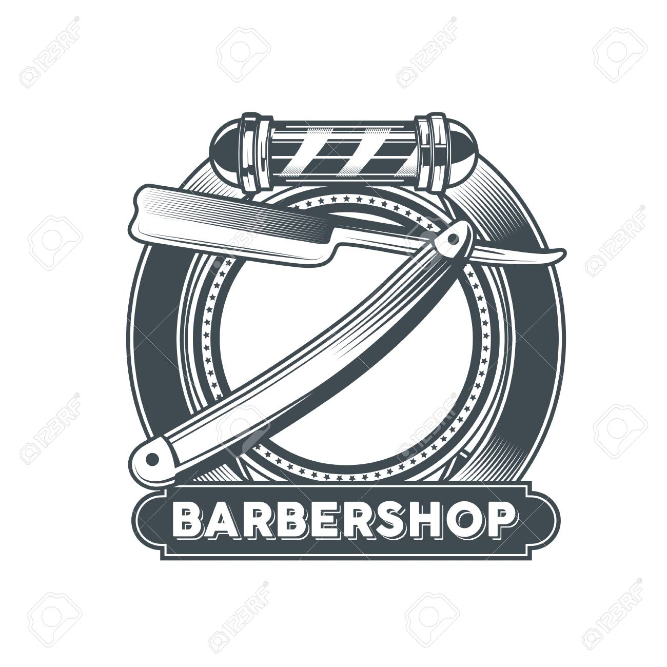 Barber Shop Logo Clipart.