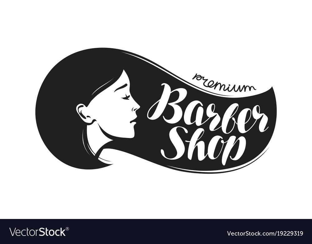 Barber shop logo or label beauty salon.