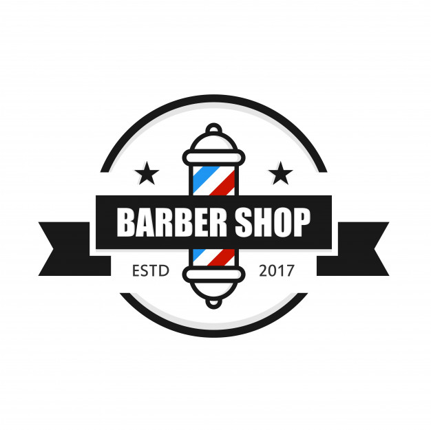 Barbershop logo design template Vector.