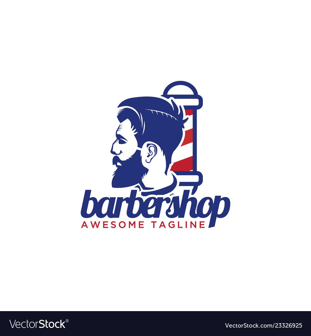 Gentlemen barber shop logo design inspiration.