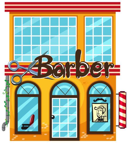 A barber shop on white background.