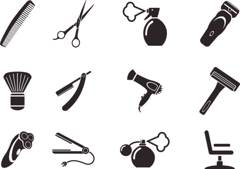 Barber shop tools clipart.