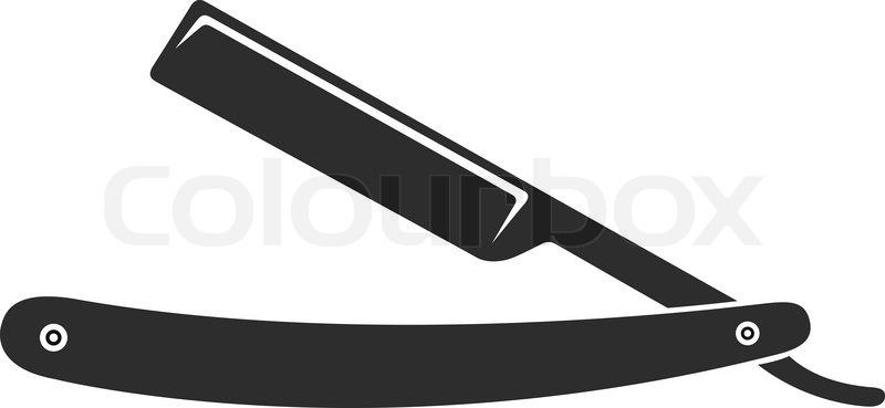 Barber Razor Blade Clipart.