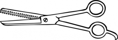 Barber scissors clip art.