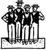 Pictures of 1970S Barbershop Quartet m9018.