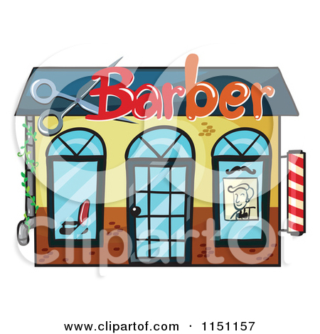 Clipart Of A Barber Shop