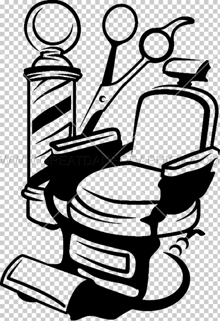Barber chair Barbershop , barber, styling chair illustration.