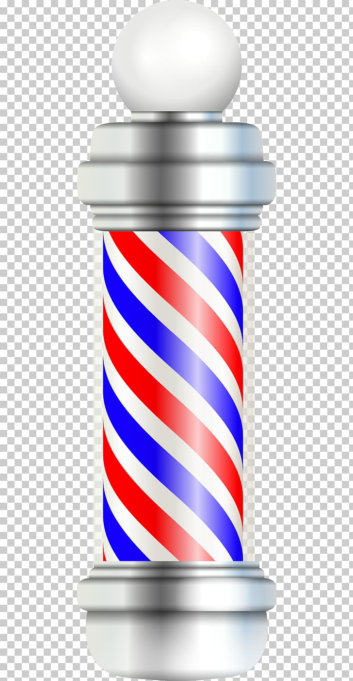Barbers pole Barbershop Hairdresser, Color rotating column.