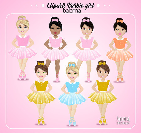 Cliparts Barbie bailarina.