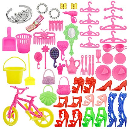 Amazon.com: 55 PCS Complete Doll Accessories Kit High Heels.