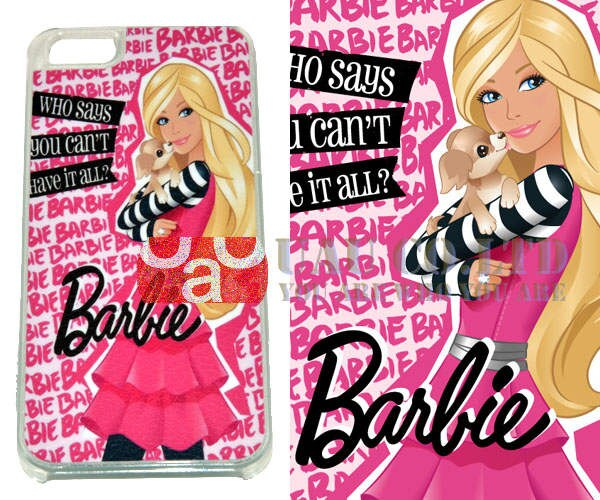 New UAU Pink lady design colorful pretty fashion Barbie girl Phone cases  for iPhone 5 5S hard PC Back Covers Free shipping.