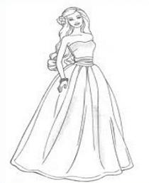 Barbie Doll Clipart Black And White.