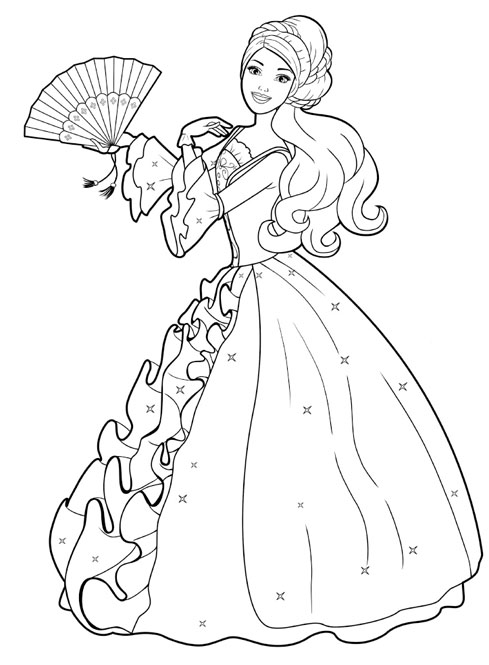 barbie coloring pages that you can print.