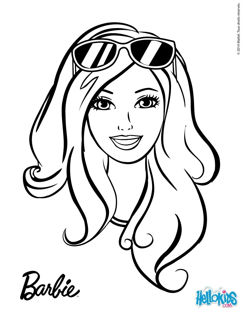 barbie clipart outline - Clipground