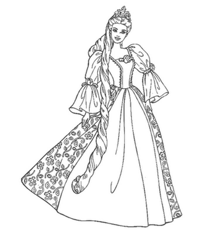 Barbie Coloring Pages.