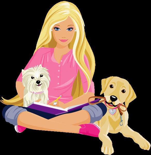 Transparent Barbie Clipart.