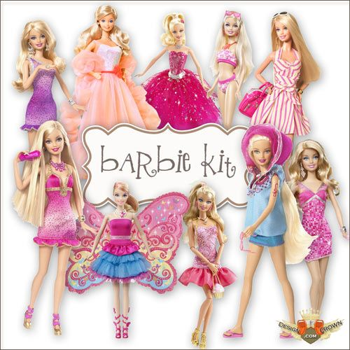 Free clip art barbie dolls.