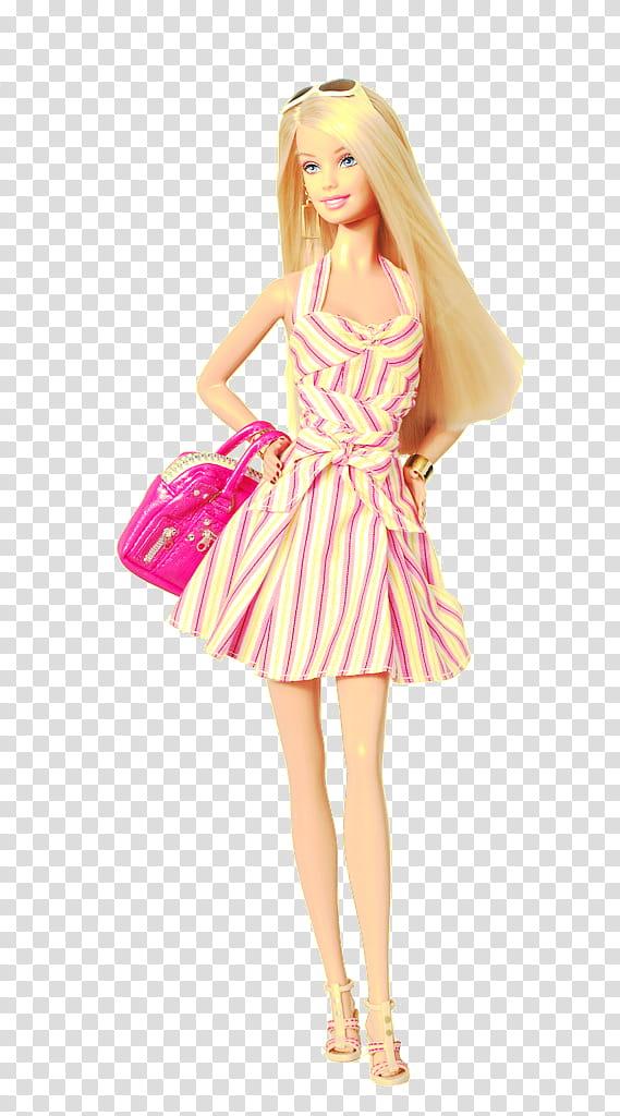 Barbie transparent background PNG clipart.