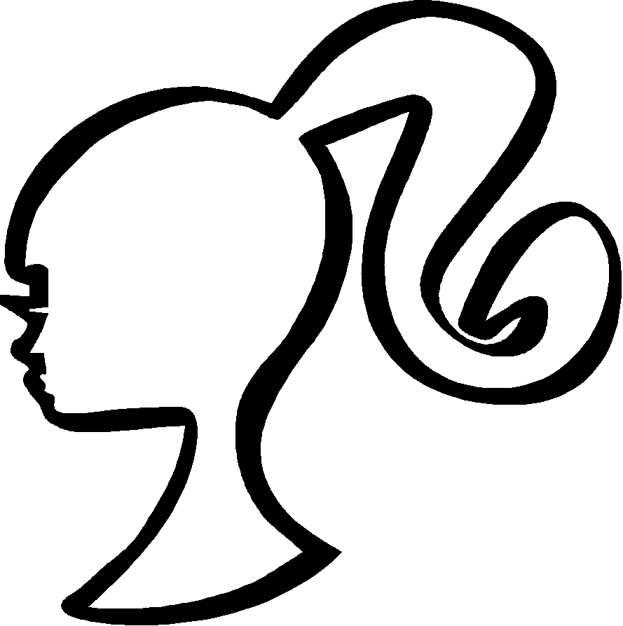 Free Barbie Head Silhouette, Download Free Clip Art, Free.
