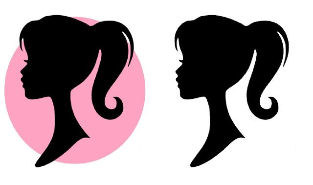Free Barbie Silhouette Printable.