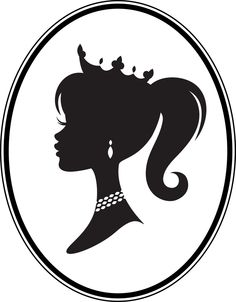 Free Barbie Head Silhouette Template, Download Free Clip Art, Free.