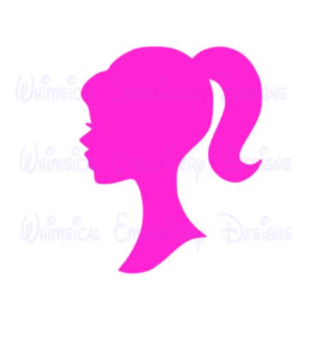 Barbie Head Silhouette Cut Design in 2019.