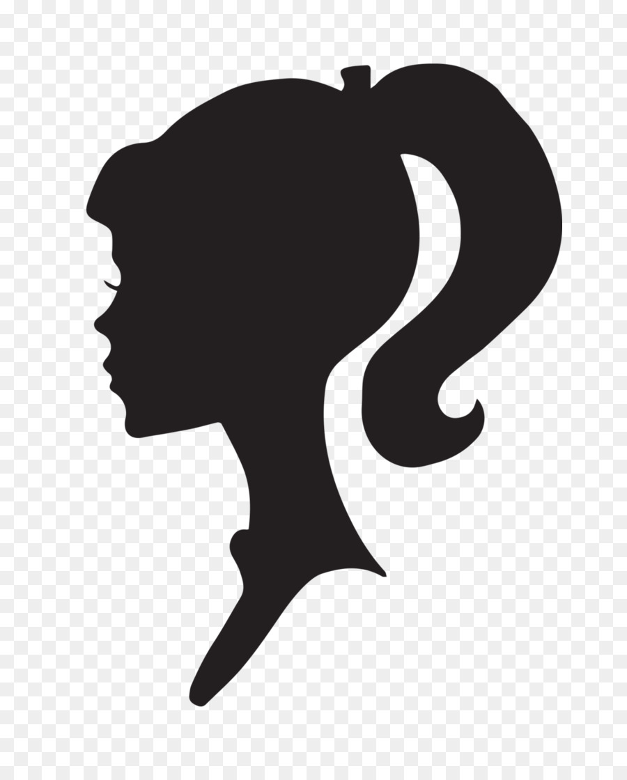 Free Barbie Head Silhouette, Download Free Clip Art, Free Clip Art.