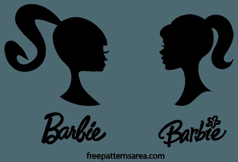 Barbie Silhouette Head Vector Logo Sign.