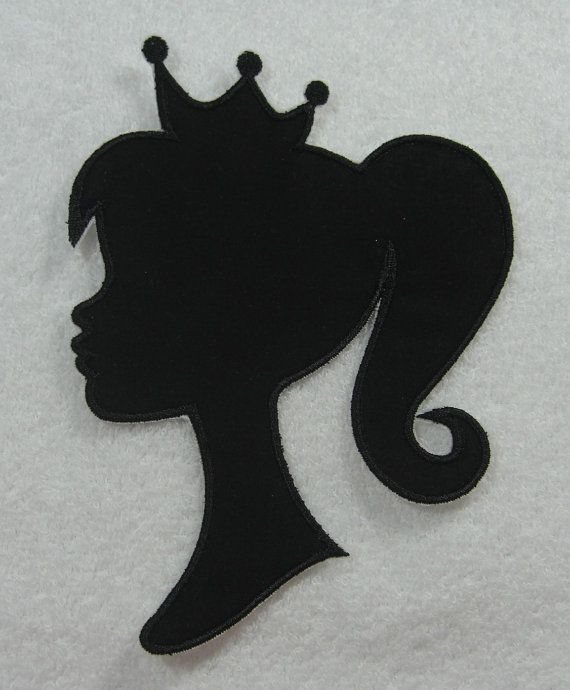 Barbie Silhouette With Crown.