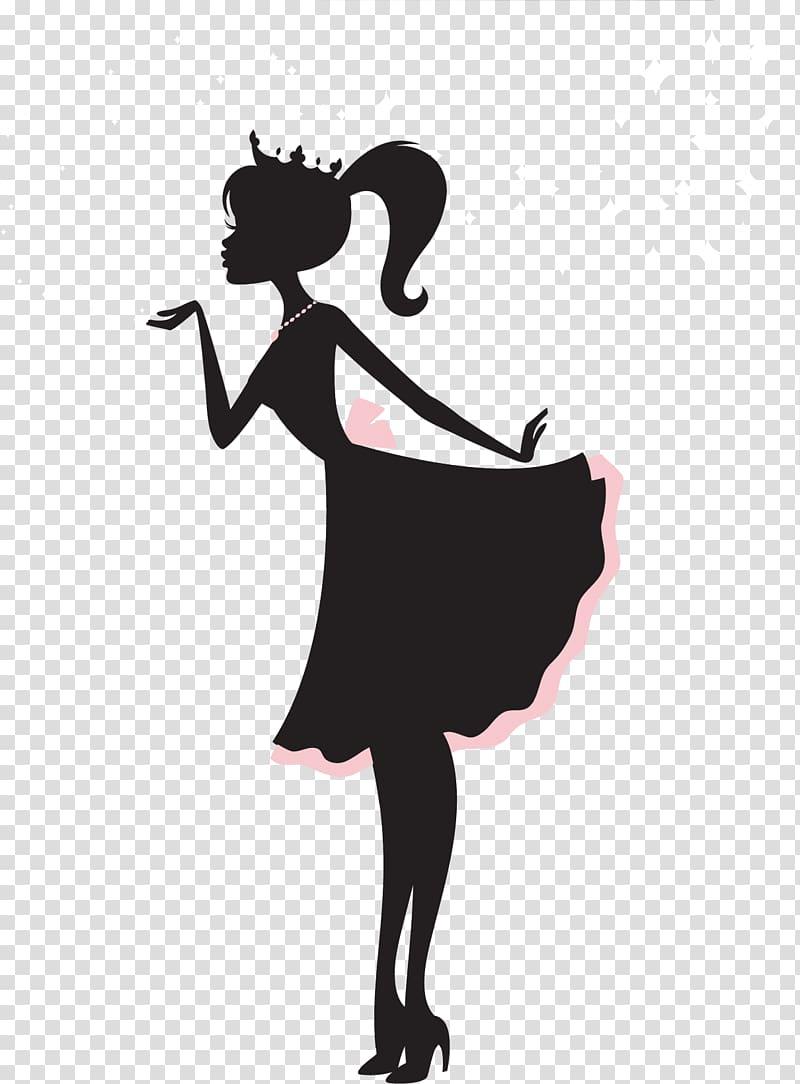 Silhouette of princess illustration, Ken Barbie Silhouette Doll.