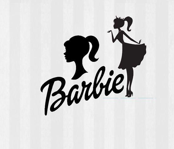 Vintage Barbie Silhouette Clip Art.