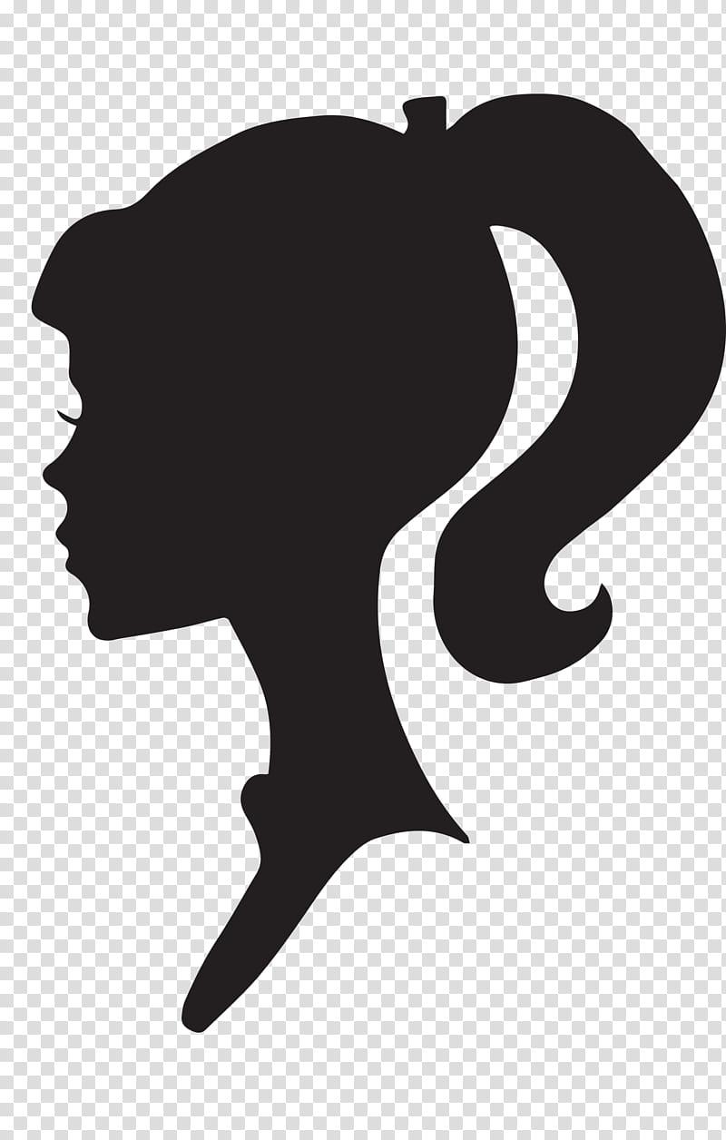 Female Silhouette Profile, Barbie logo transparent background PNG.