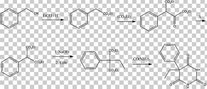 Phenobarbital Chemical Synthesis Anticonvulsant Barbiturate.