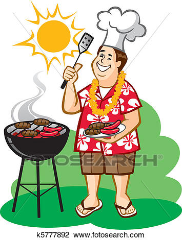 Dad's Barbecue (BBQ) Clipart.