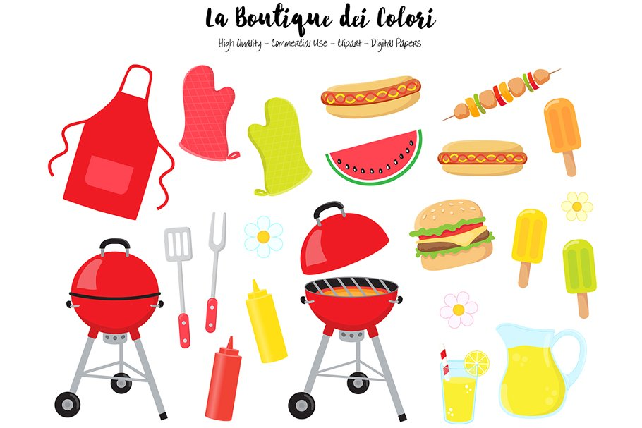 Summer Barbecue Clipart.