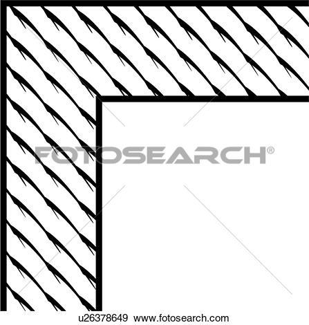 Clip Art of , barbs, border, corner, u26378649.