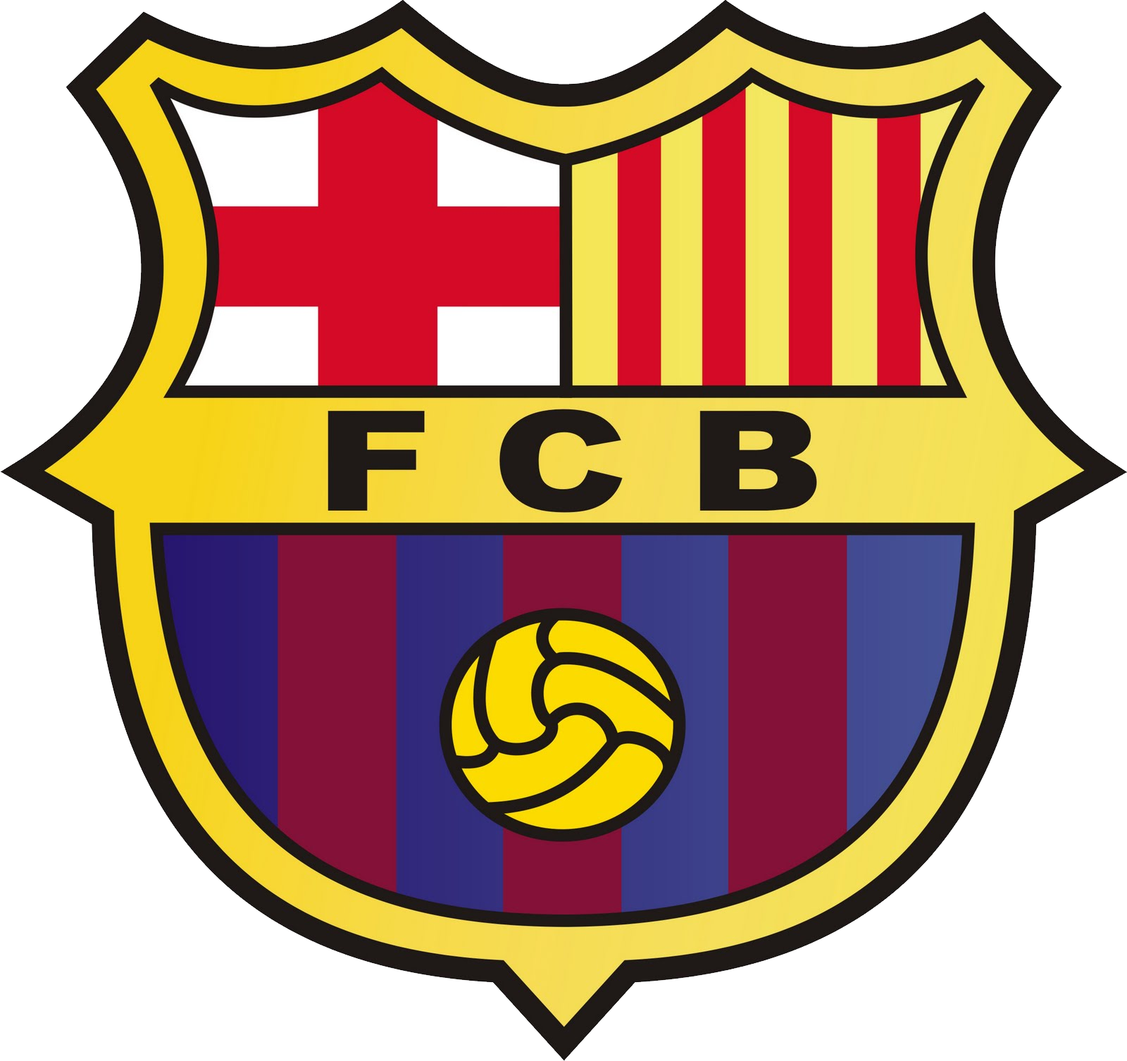 FC Barcelona PNG logo, FCB PNG logo free download.