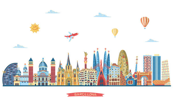 Best Barcelona Spain Illustrations, Royalty.