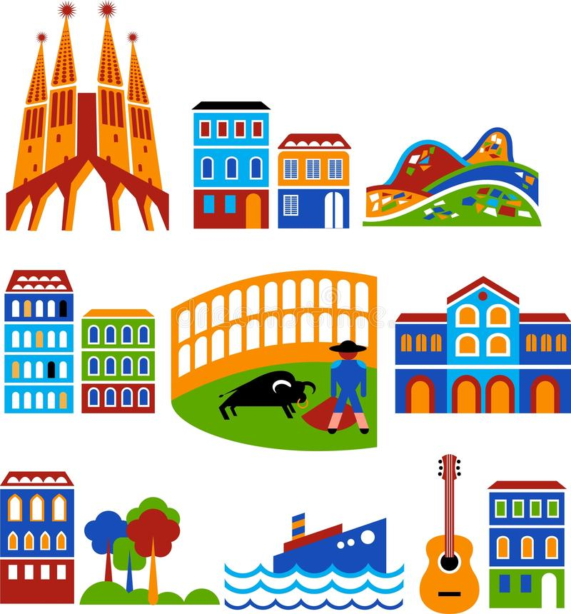 Barcelona Stock Illustrations.